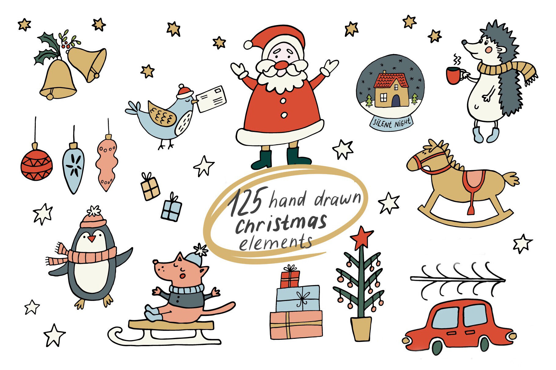 Cozy Christmas Clipart By Ukulikki Thehungryjpeg Com