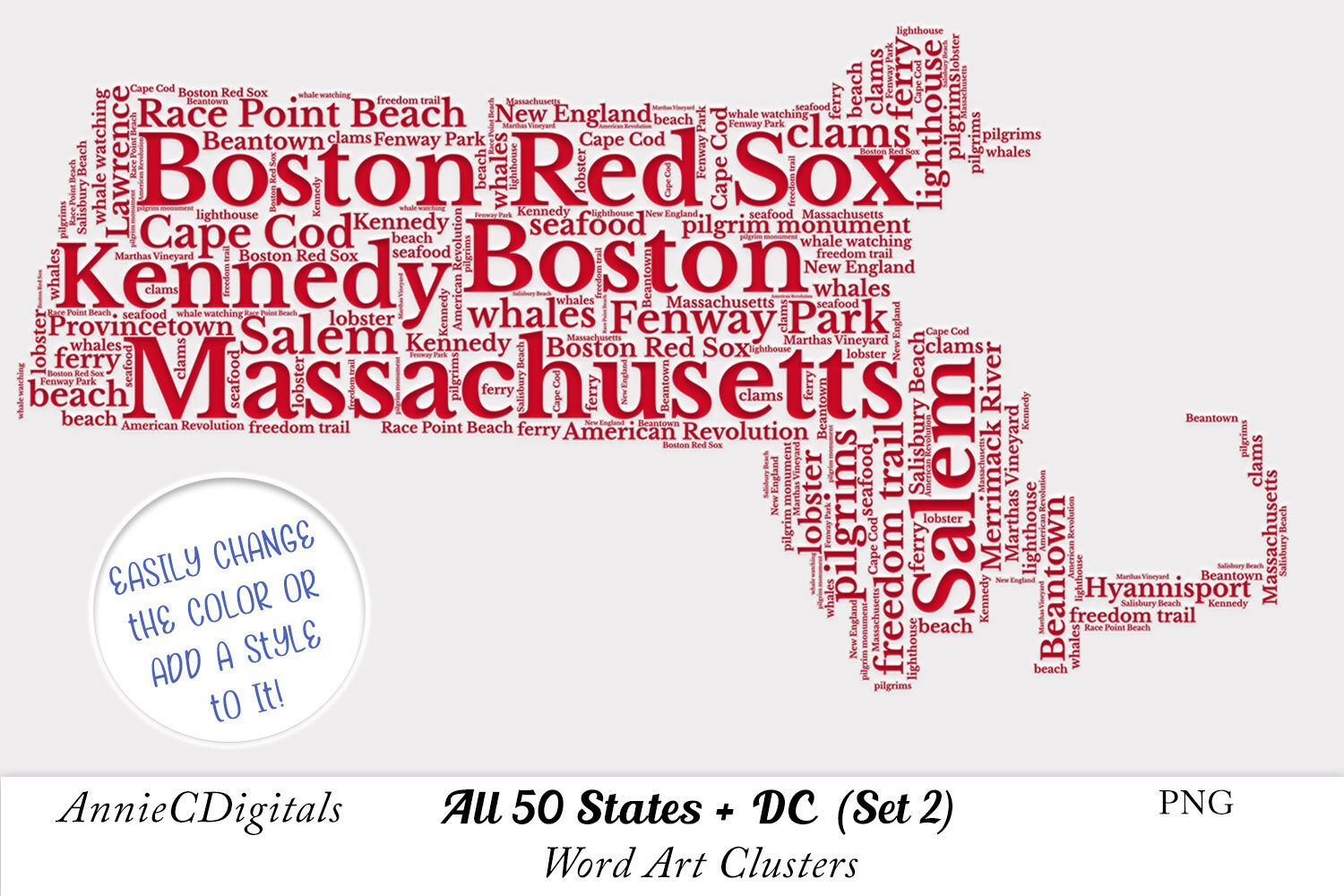 Usa State Word Art Clusters State Clip Art By Anniecdigitals