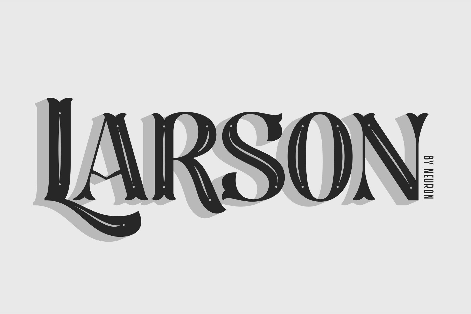 Larson Decorative Display Font By Neuron Thehungryjpeg Com