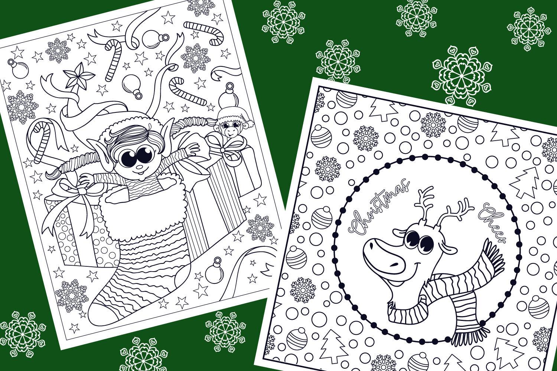 Christmas Coloring Pages 9 Vector Items By Tatiana Cociorva