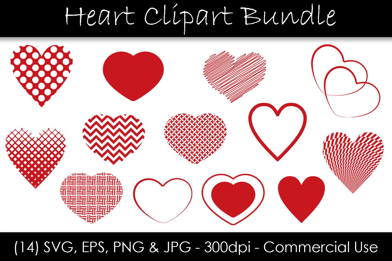 Heart Svg Bundle Heart Shape Clip Art By Gjsart Thehungryjpeg Com