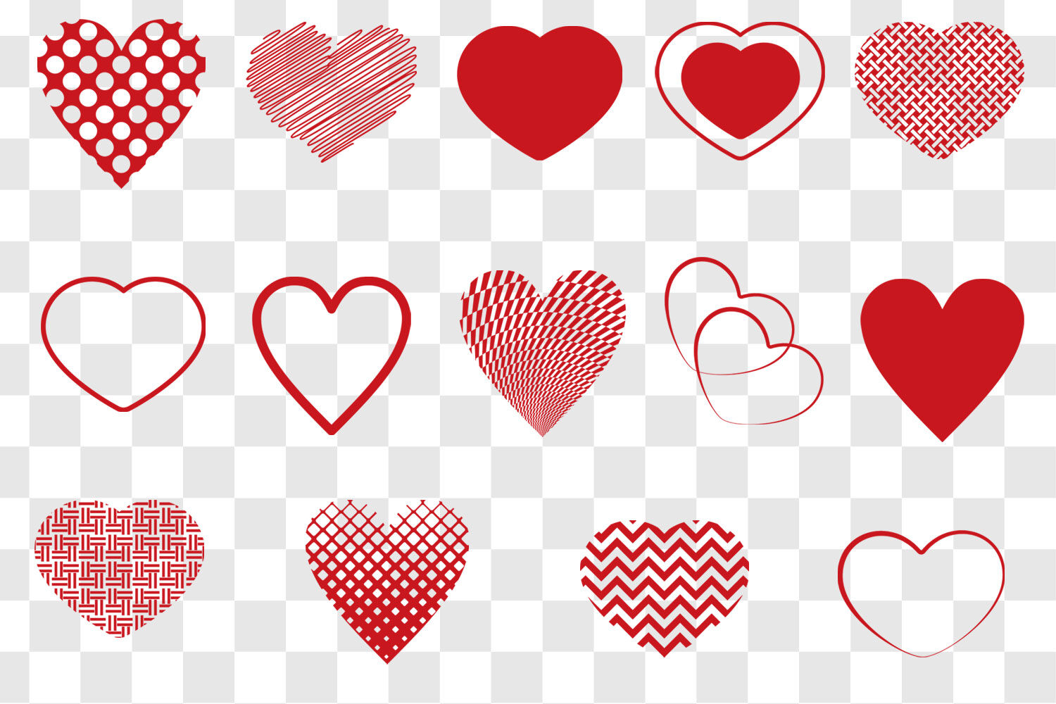Heart Svg Bundle Heart Shape Clip Art By Gjsart Thehungryjpeg Com