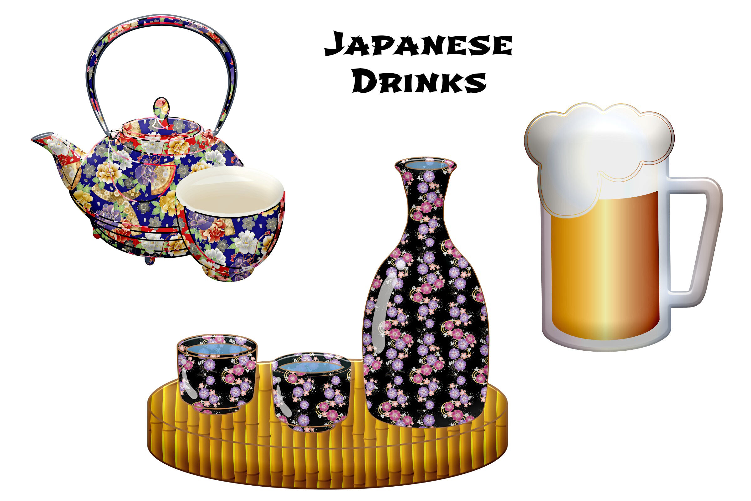 Japanese Food and Elements Clip Art By Me and Ameliè ... (2400 x 1600 Pixel)