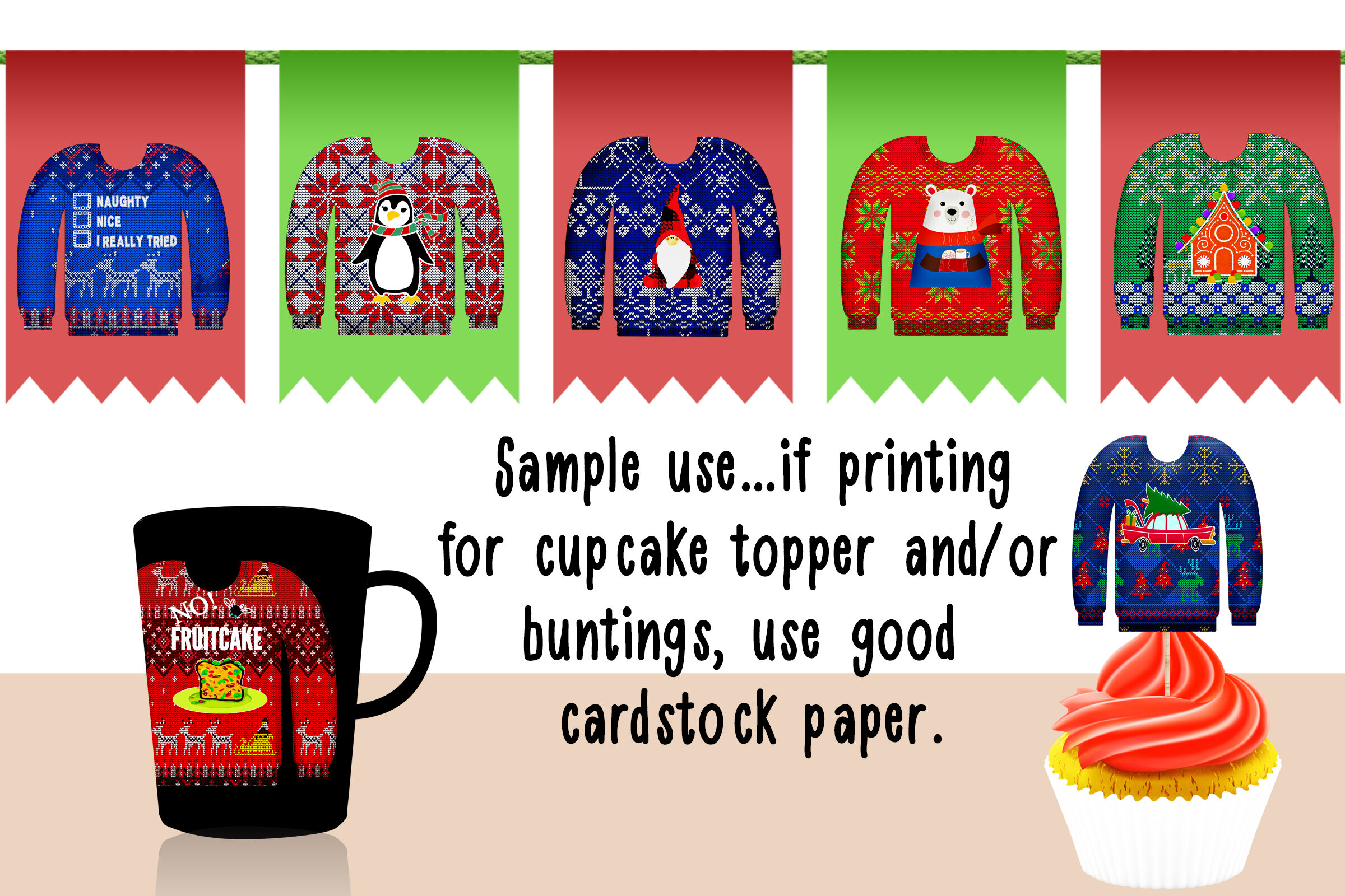 Ugly Sweater Clip Art By Me And Amelie Thehungryjpeg Com