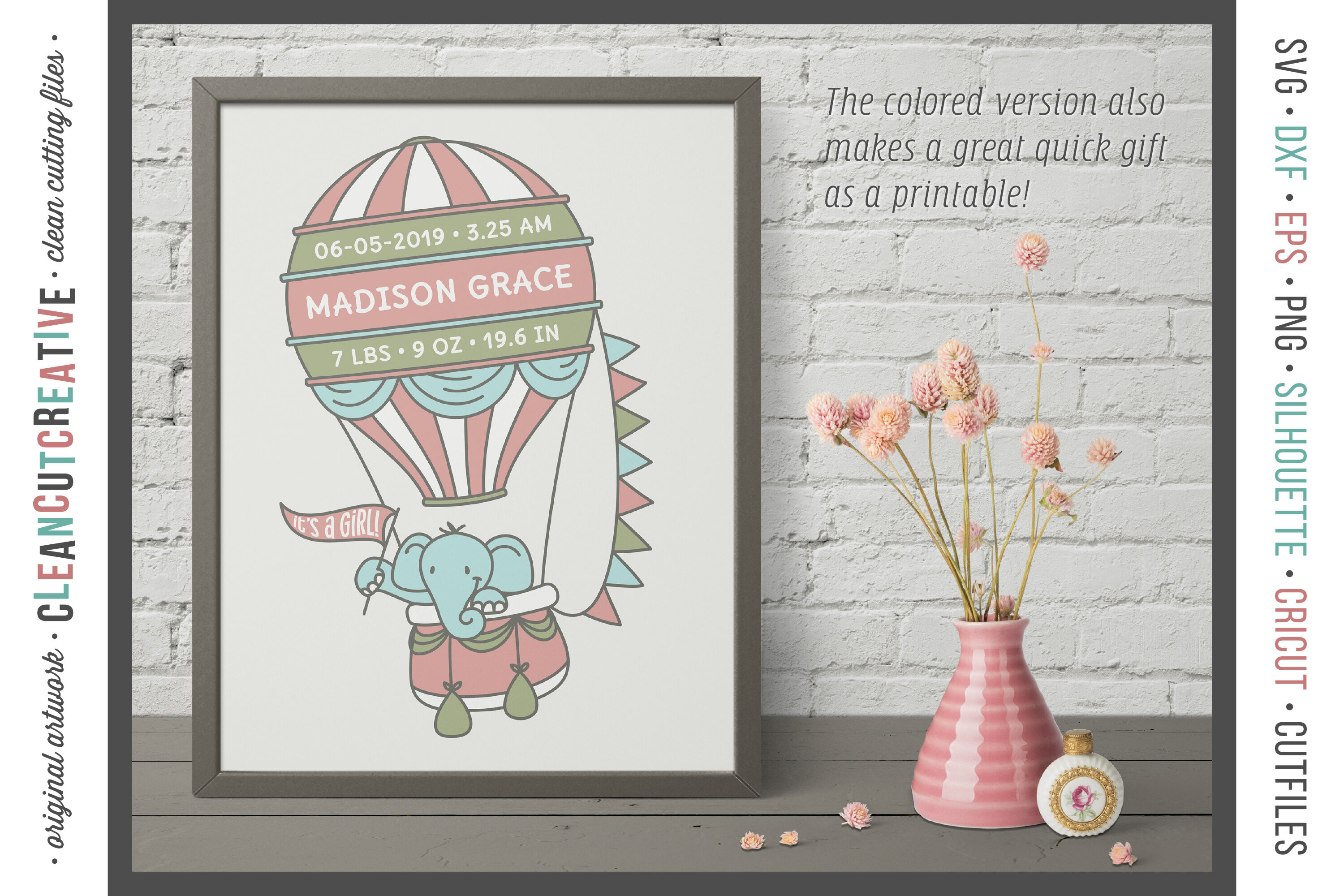 Download Vintage Hot Air Balloon Svg Dxf Png Pdf Jpg DXF