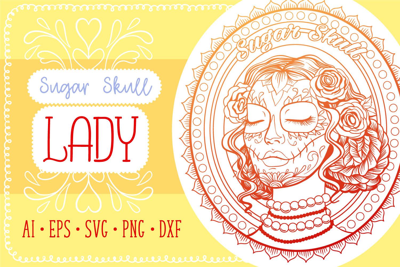 Sugar Skull Lady Coloring Page Svg Cut File By Tatiana Cociorva