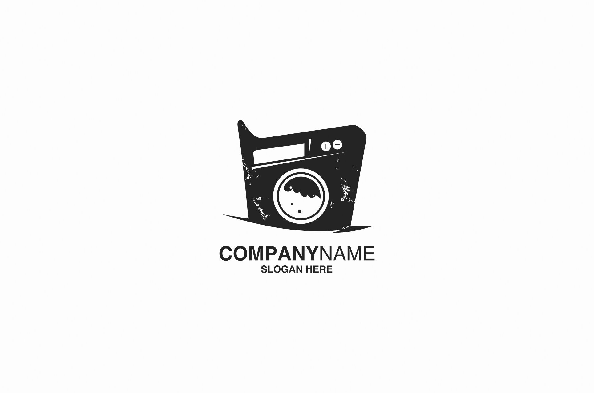laundry logo design vector by ahsancomp studio thehungryjpeg com the hungry jpeg