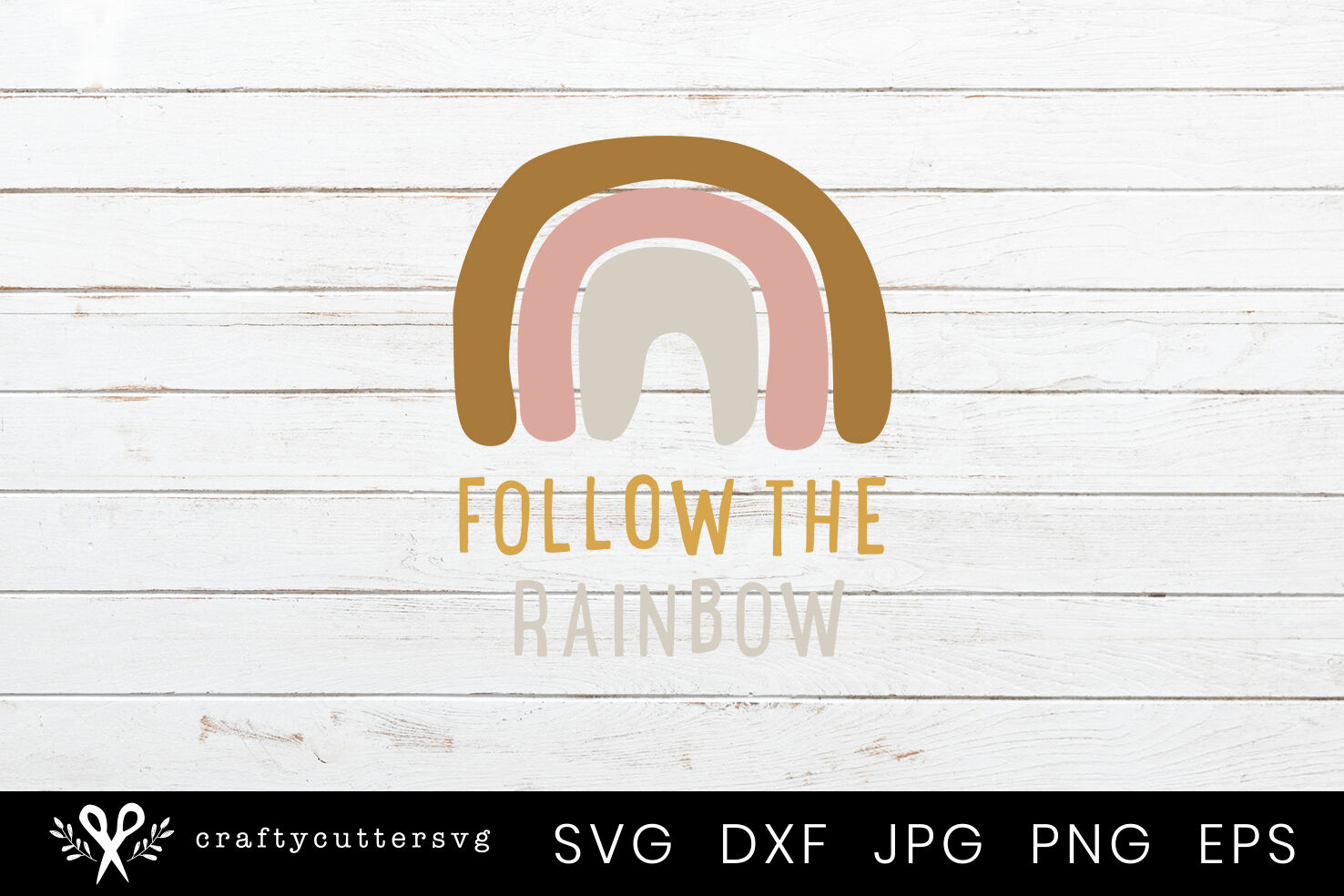 Follow The Rainbow Svg Cut File Cricut Clipart By Crafty Cutter