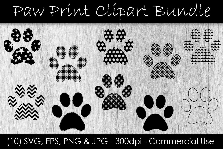 Download Paw Print SVG Clipart Bundle - Paw Print Clip Art By ...