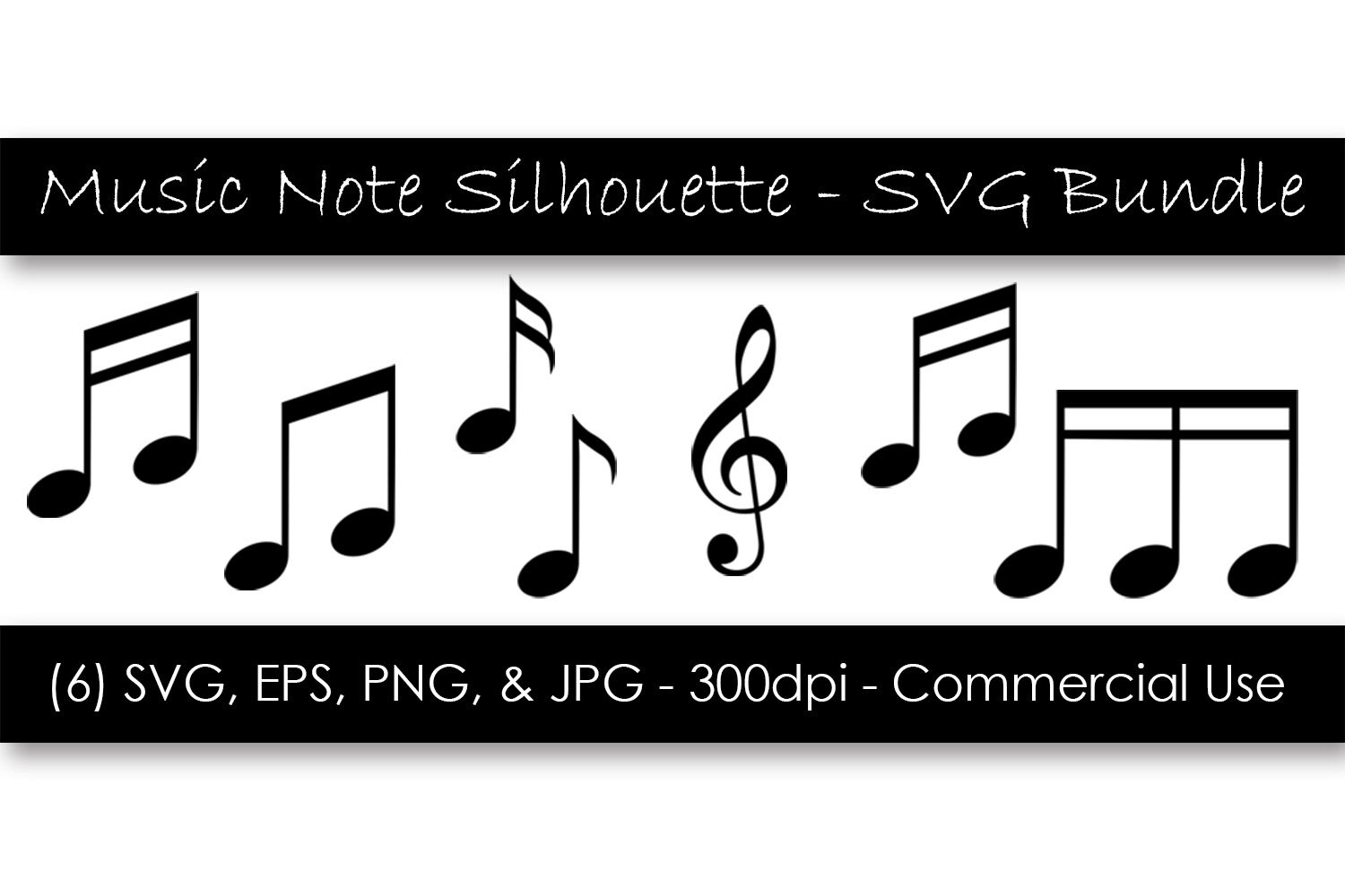 Music Note Silhouette Svg Clipart Bundle By Gjsart Thehungryjpeg Com
