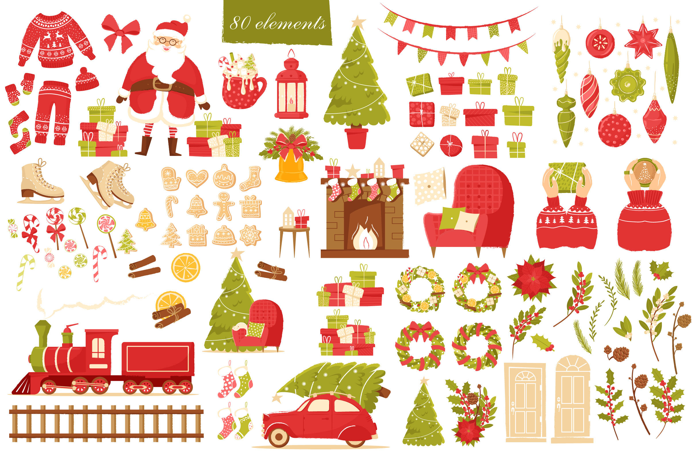Feel The Christmas Holiday Clipart By Katiazhe Thehungryjpeg Com