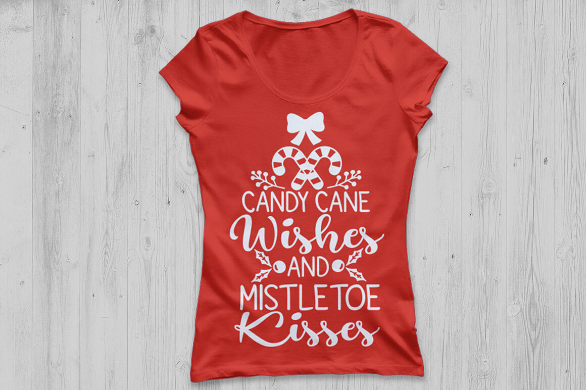 Candy Cane Wishes And Mistletoe Kisses Svg Christmas Svg