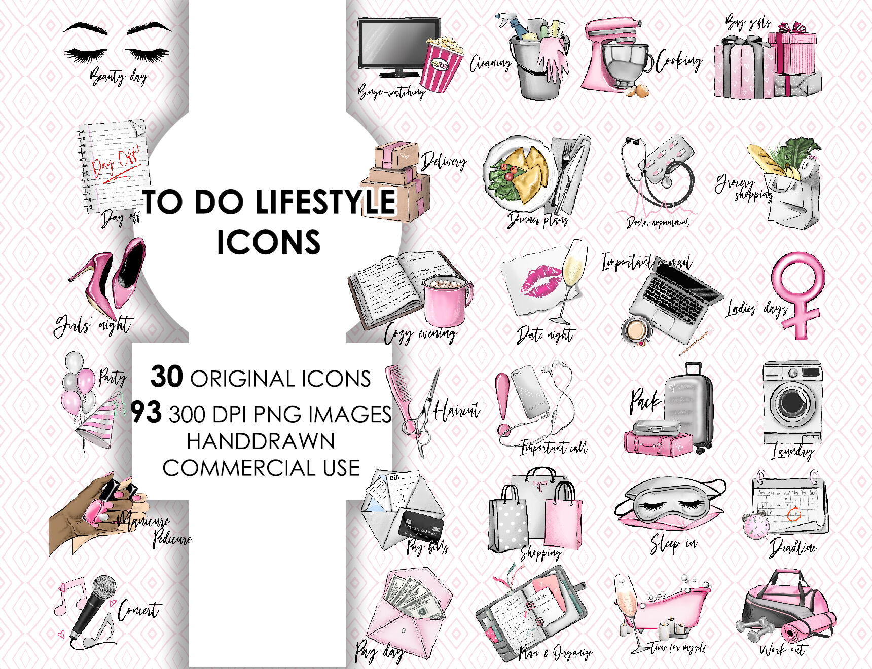 To Do Fashion Printable Planner Stickers By Olgaburunovaart