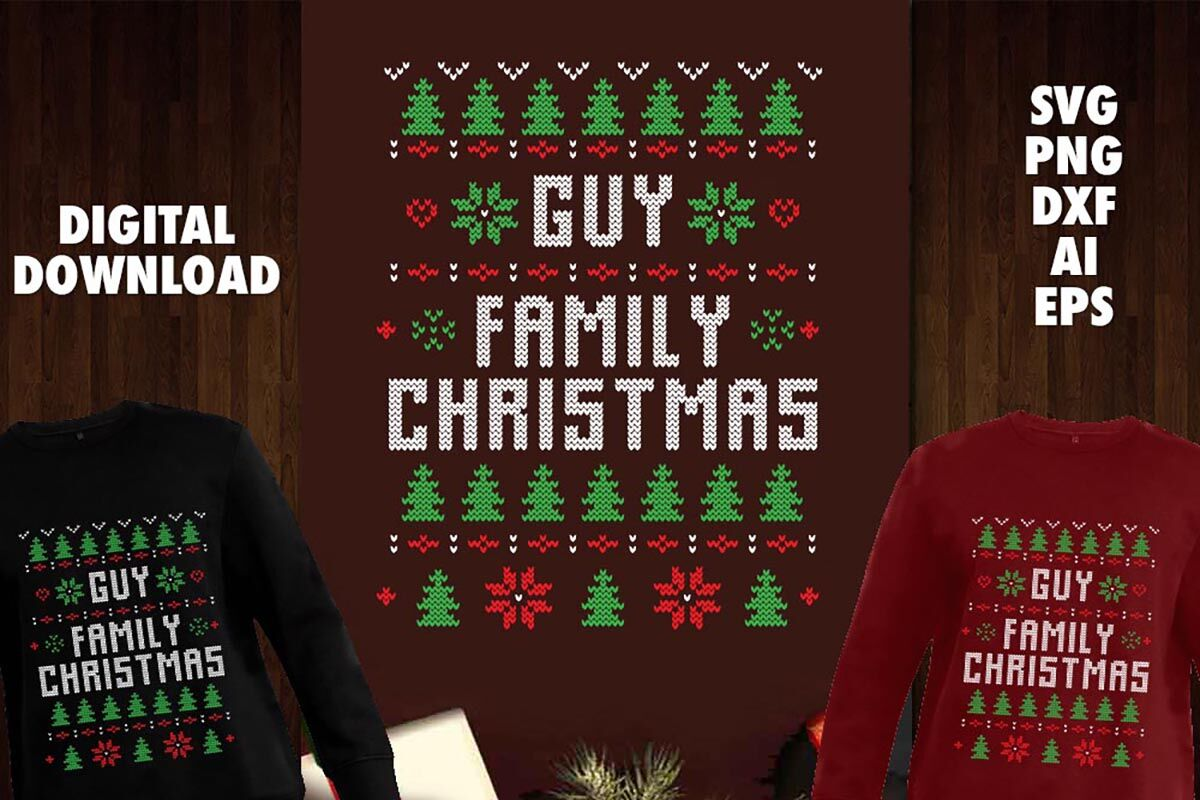 Guy Family Christmas Transparent Svg By Cuttingsvg Thehungryjpeg Com
