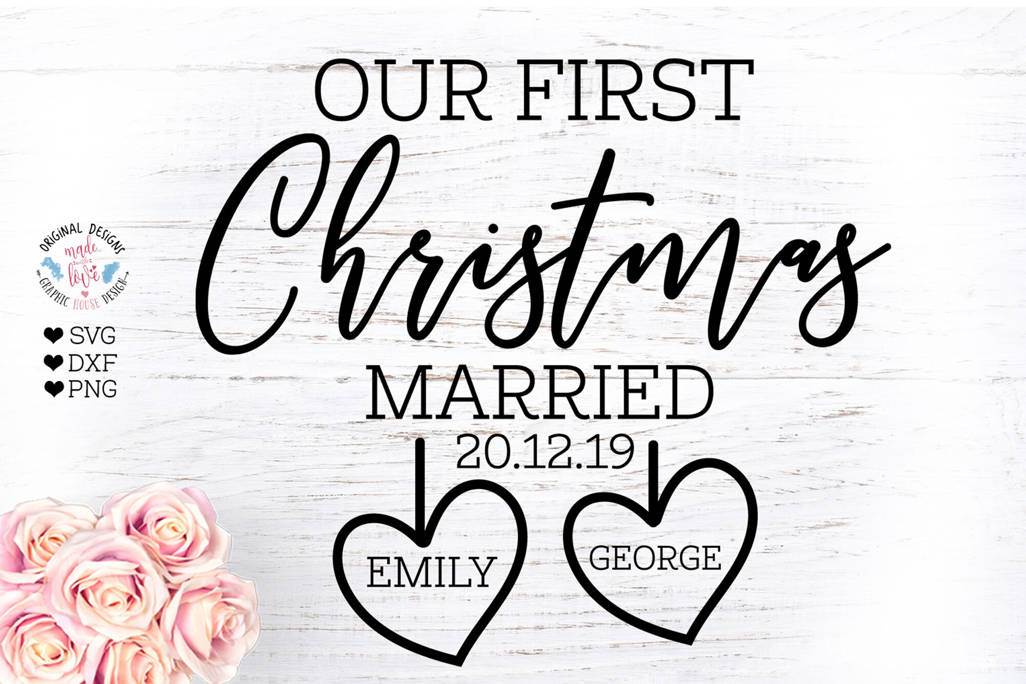 First Christmas In Our New Home Svg.Our First Christmas Married Christmas Home Decor Cut File