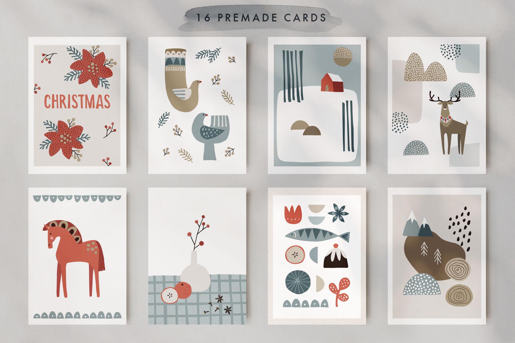 Scandinavian Christmas Illustrations By Tabita S Shop