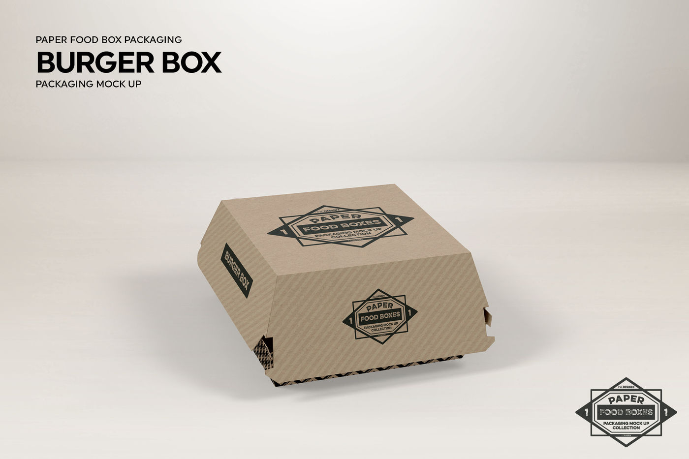 Burger Box Packaging Mockup By Inc Design Studio Thehungryjpeg Com