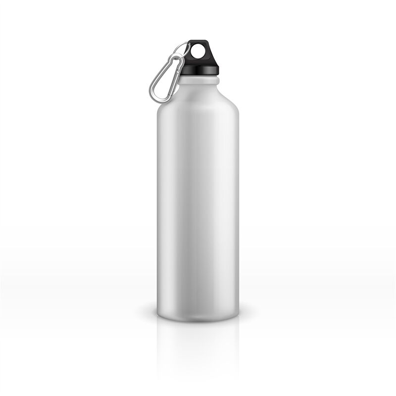 Download Steel Sport Water Bottle With Carabiner Mockup Yellowimages