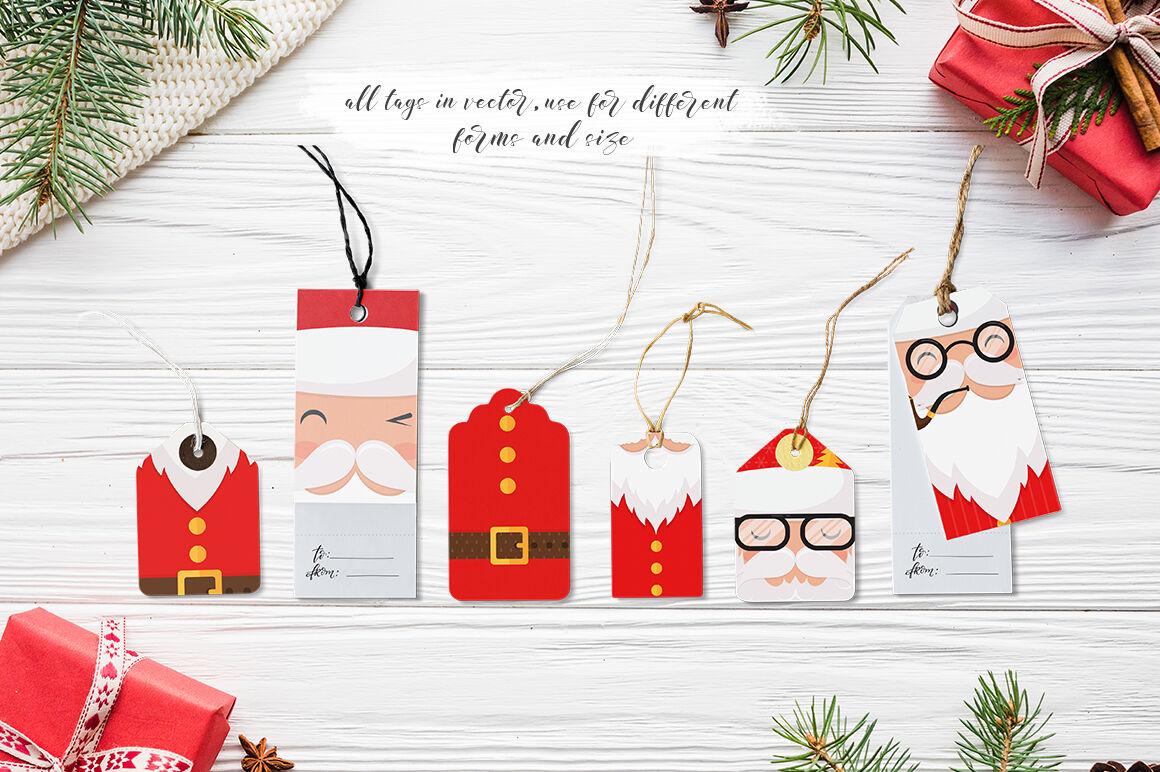 Santa Claus Tags And Cards By Darismartart Thehungryjpeg Com