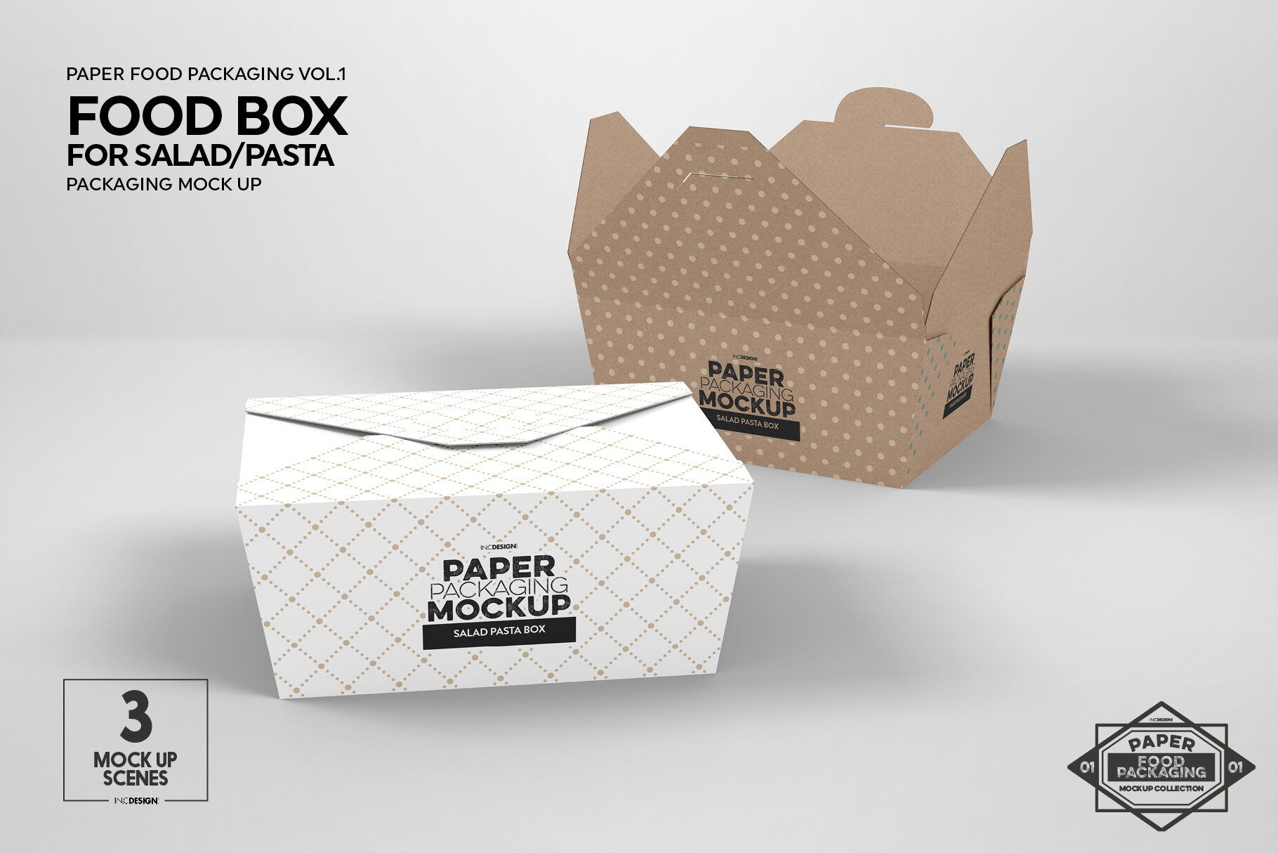 Pasta Packaging With See Through Window Mock Up