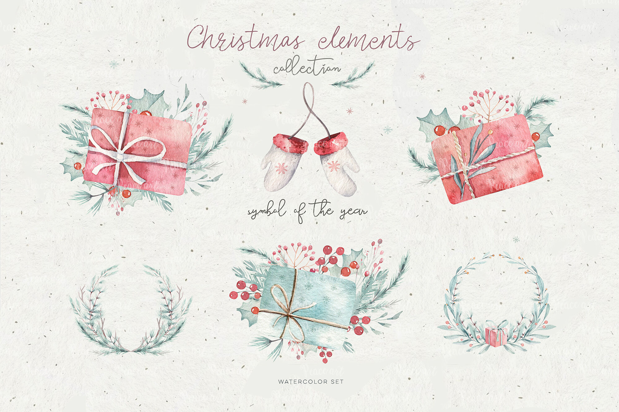 Christmas Cute Rats Collection By Peace Shop Thehungryjpeg Com