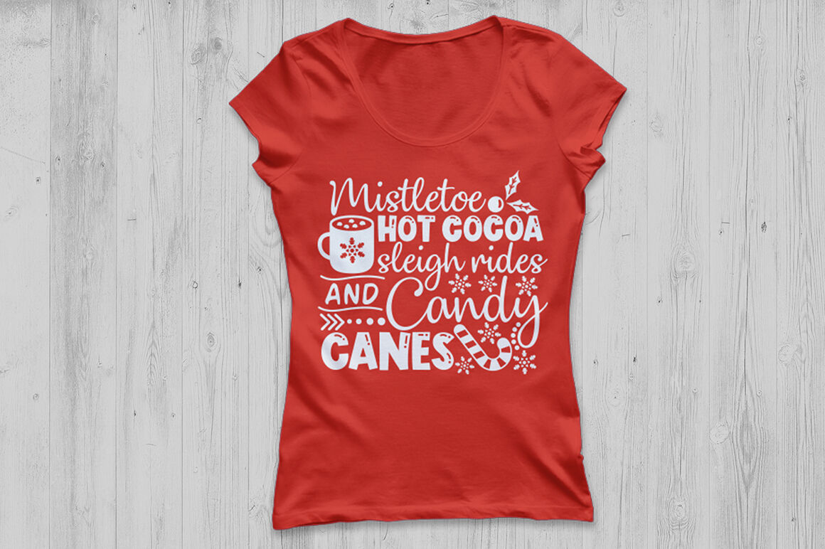 Christmas Svg Mistletoe Hot Cocoa Sleigh Rides Candy Canes Svg Christmas Silhouette Files Christmas Cricut Designs Christmas Svg Designs