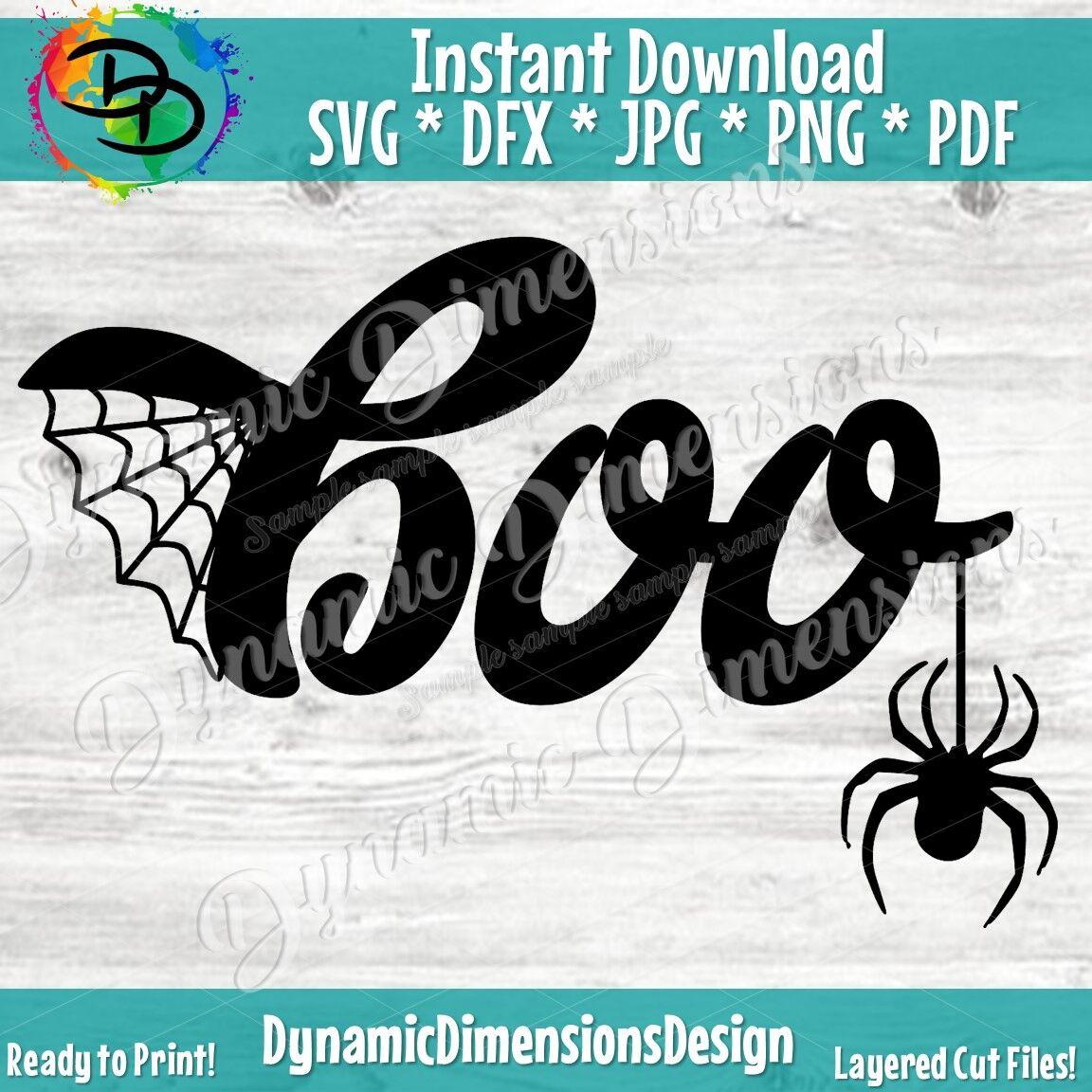 Halloween Svg Boo Svg Spider Clipart Boo Decal Digital Cut