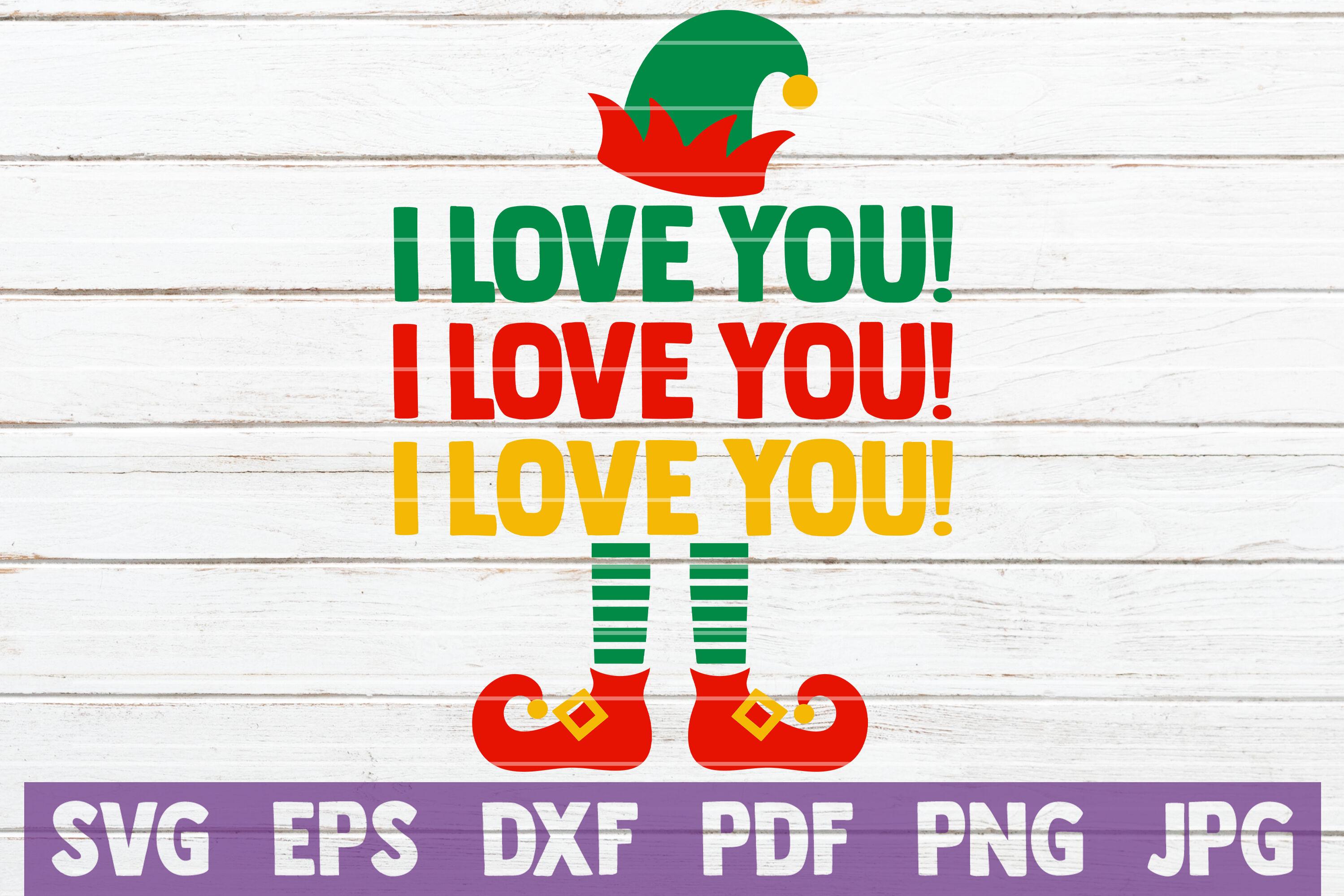 I Love You I Love You I Love You Svg Cut File By