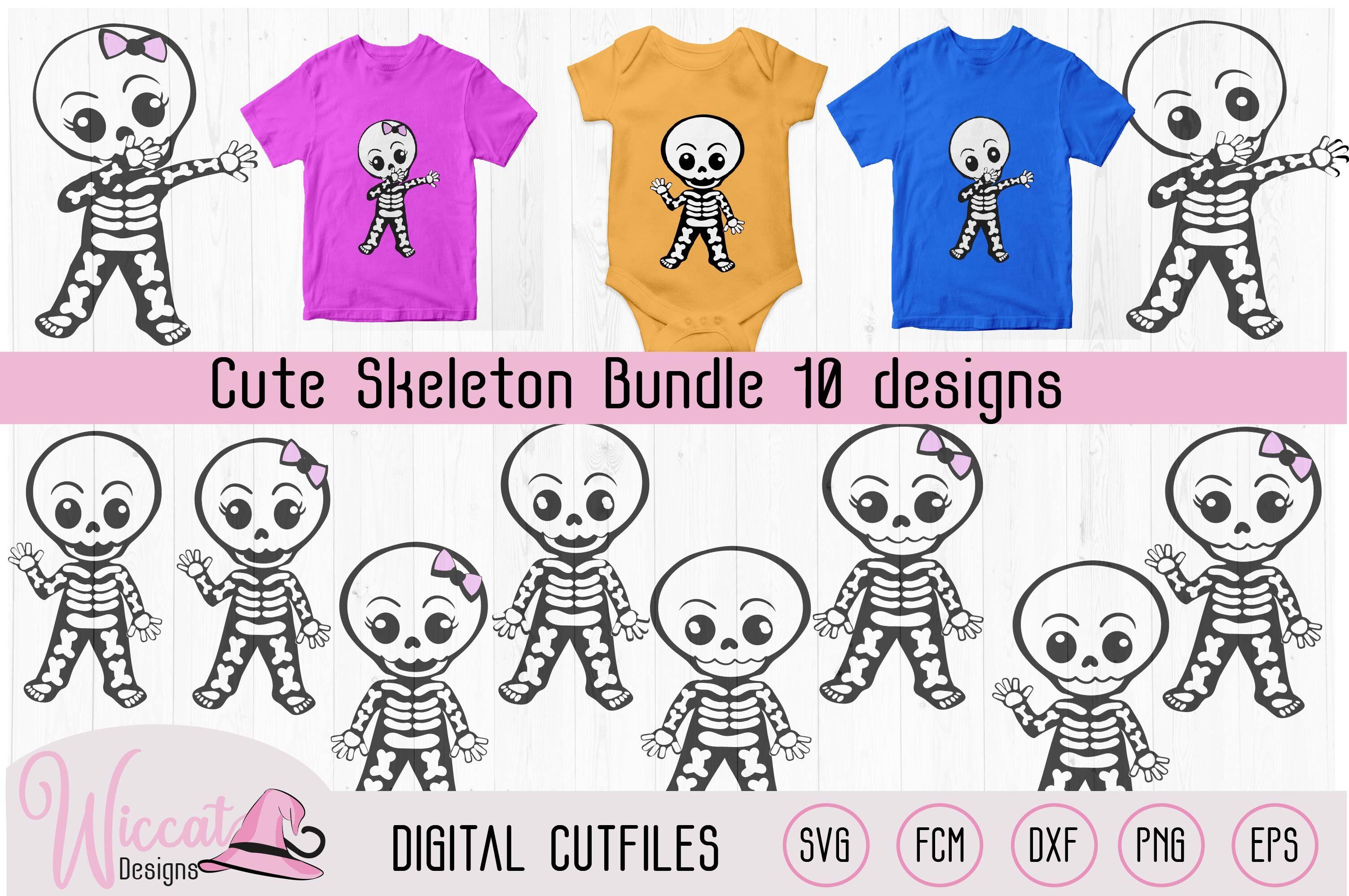 Cute Skeleton Bundle Boy Skeleton Girl Skeleton Dabbing
