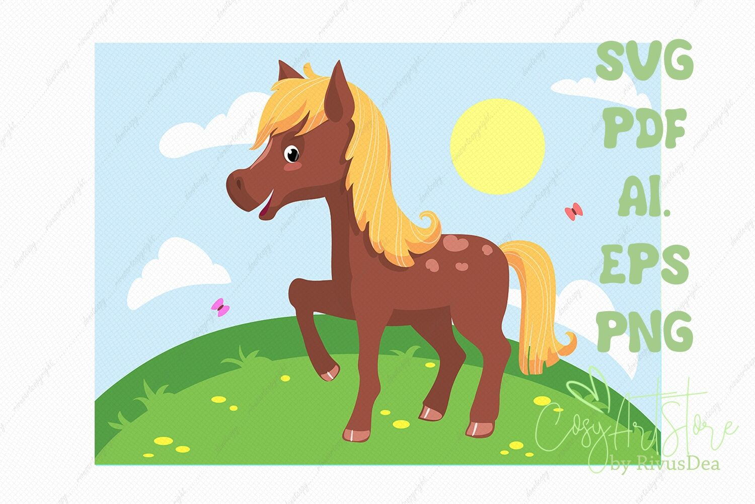 Horse Svg Download Baby Horse Png Illustration Cute Baby Animal