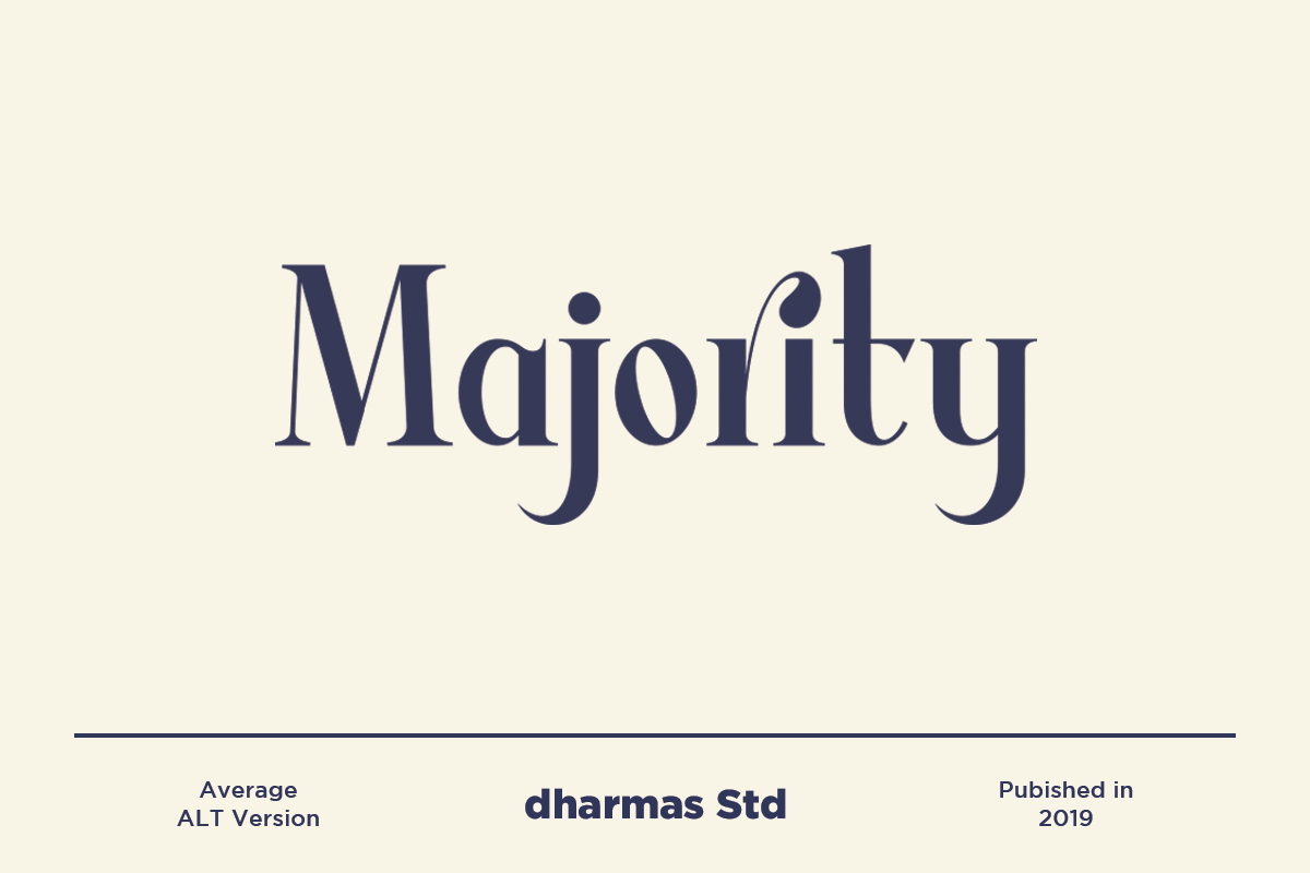 Average Modern Serif Typeface By Dharmas Thehungryjpeg Com