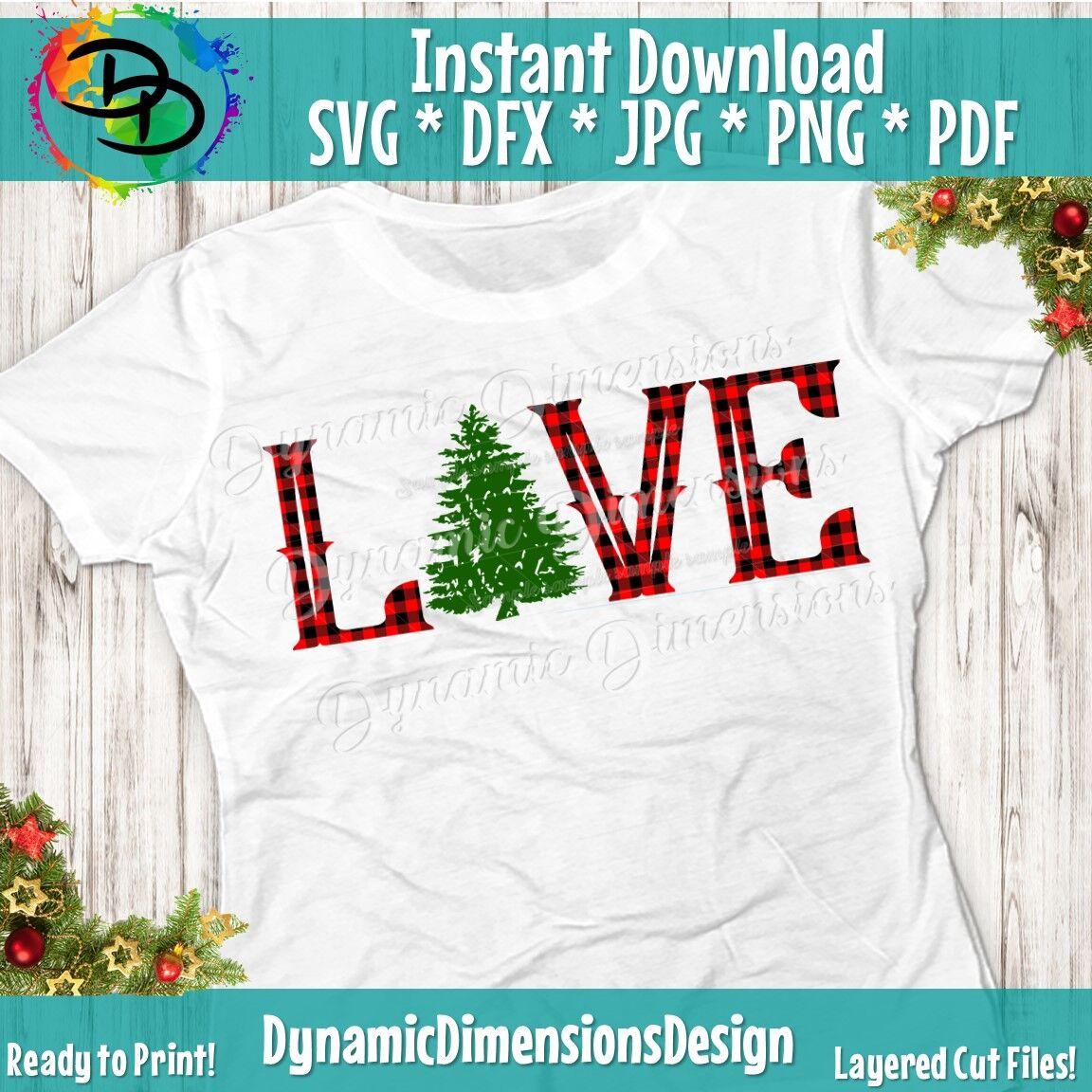 Christmas Svg Love Christmas Winter Svg Santa Svg Christmas