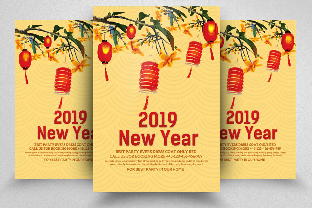 Chinese Happy New Year Flyer By Designhub Thehungryjpeg Com