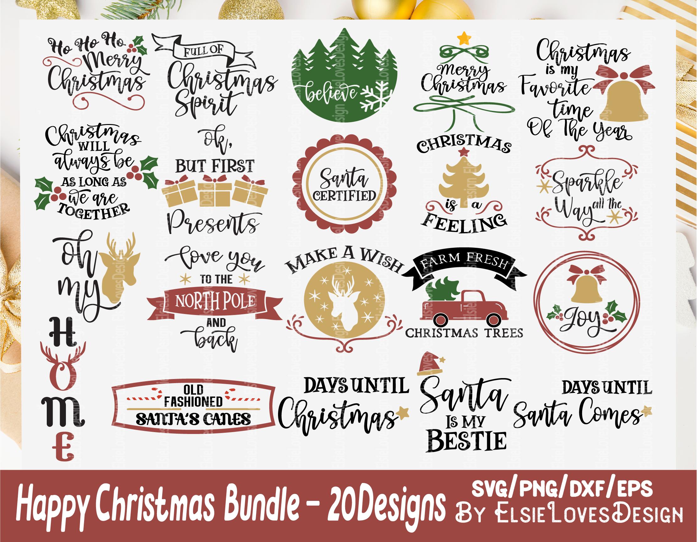 Christmas Svg Bundle By Elsielovesdesign Thehungryjpeg Com