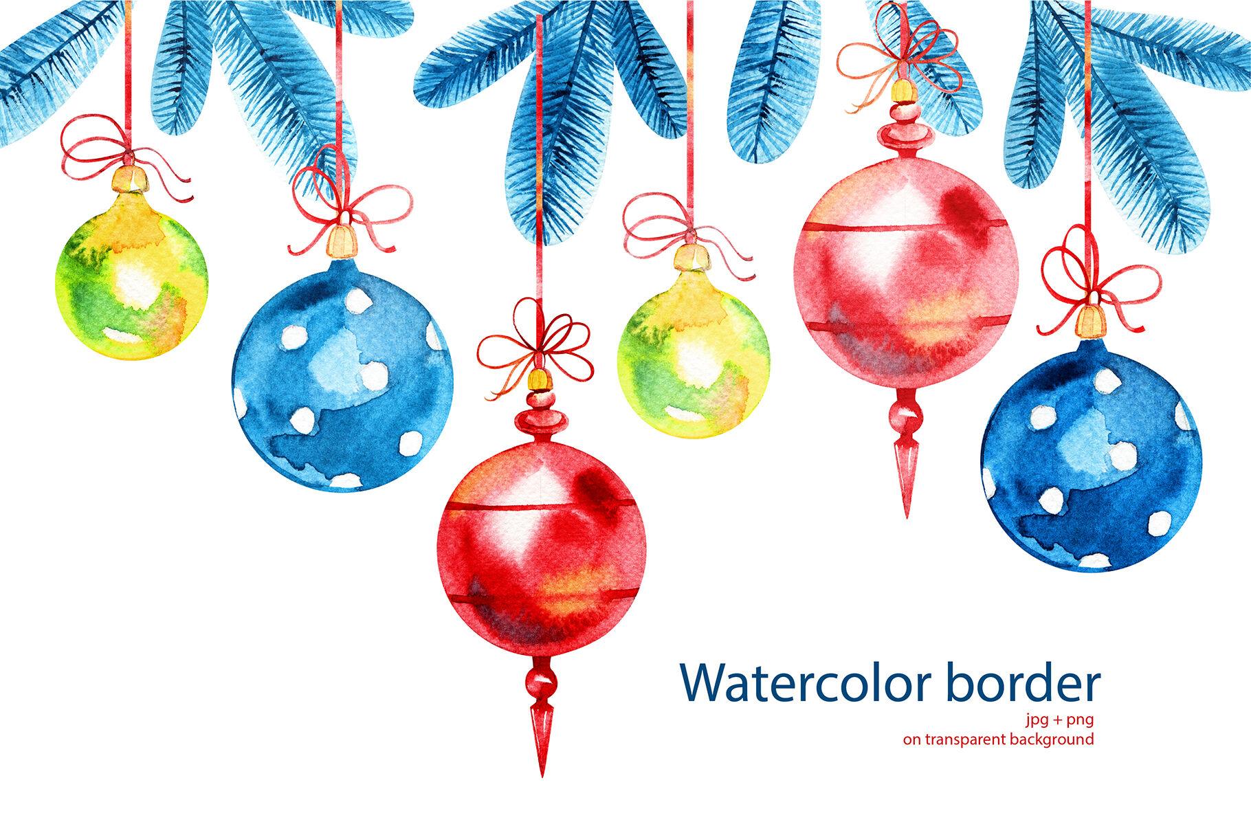Christmas Wreaths And Frames By Aquarelloaquarelle Thehungryjpeg Com