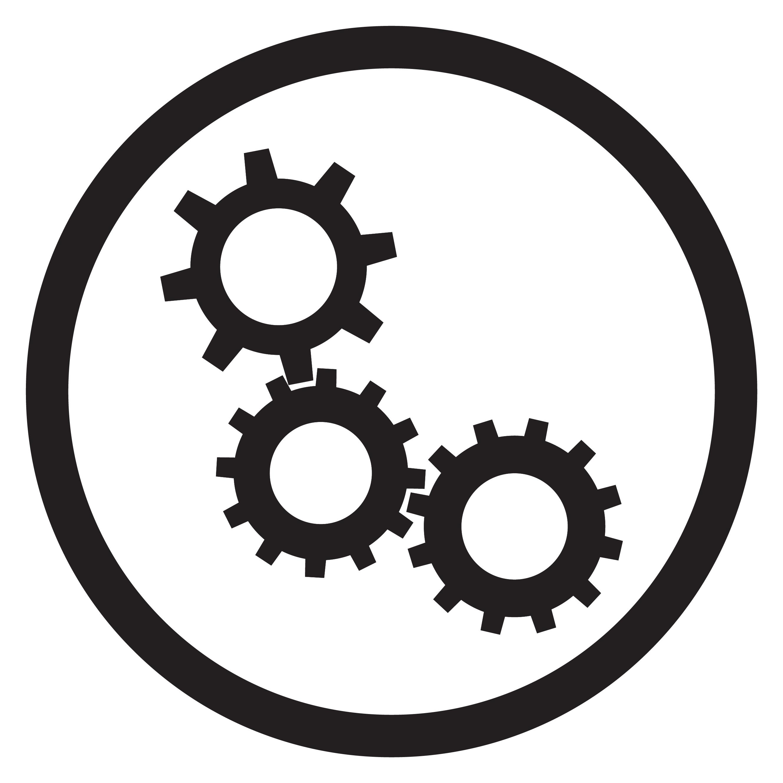 Cogwheel Gear Mechanism Icon Black White Vector By 09910190
