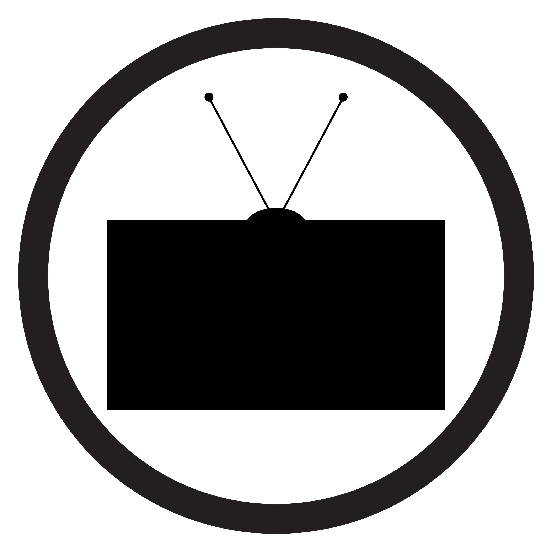 Tv Icon Black White Vector By 09910190 Thehungryjpeg Com