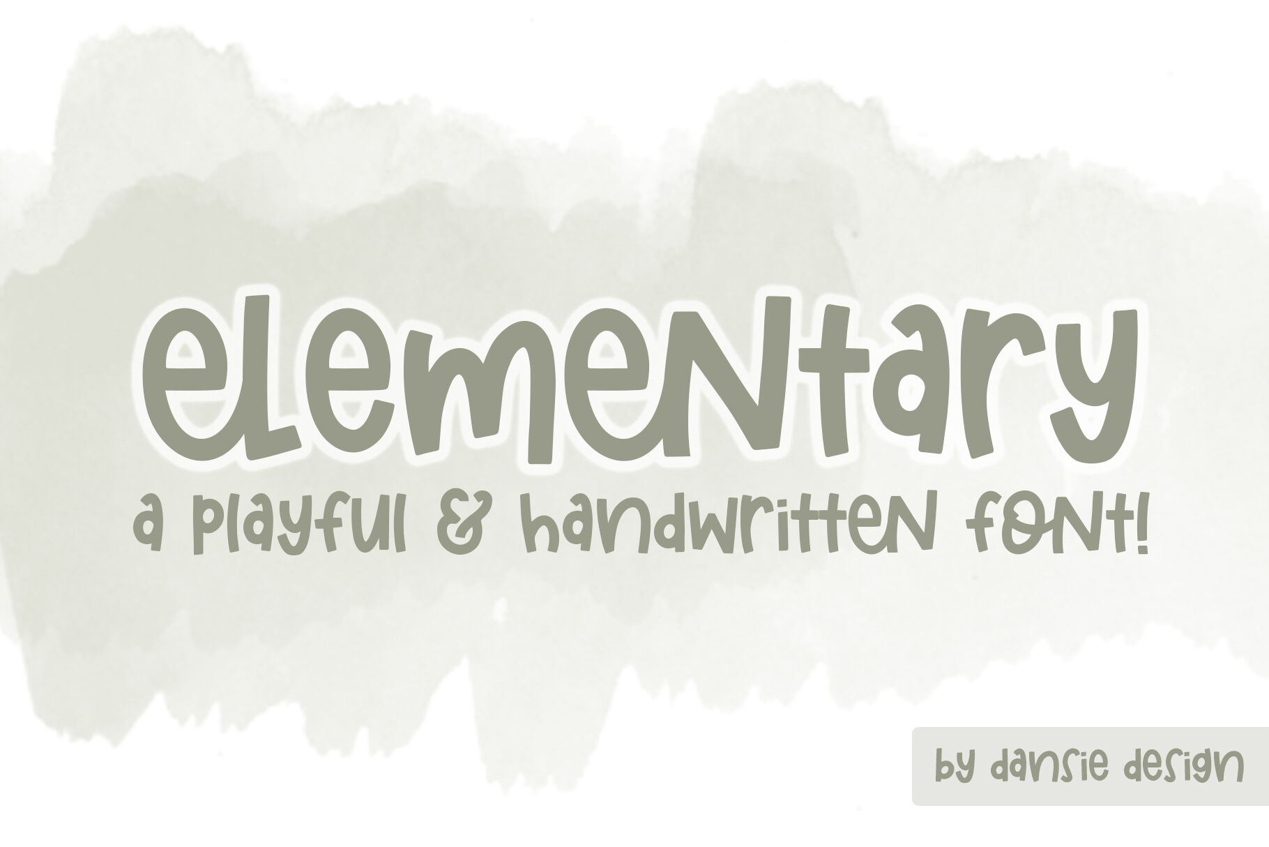 Elementary Font By Dansie Design Thehungryjpeg Com
