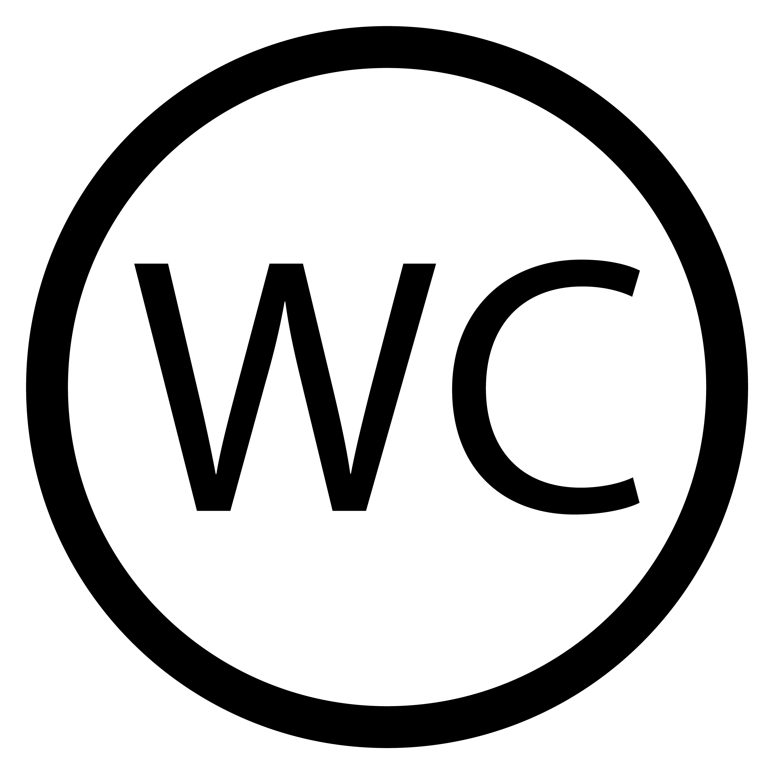 Wc Toilet Icon Black White Vector By 09910190 Thehungryjpeg Com