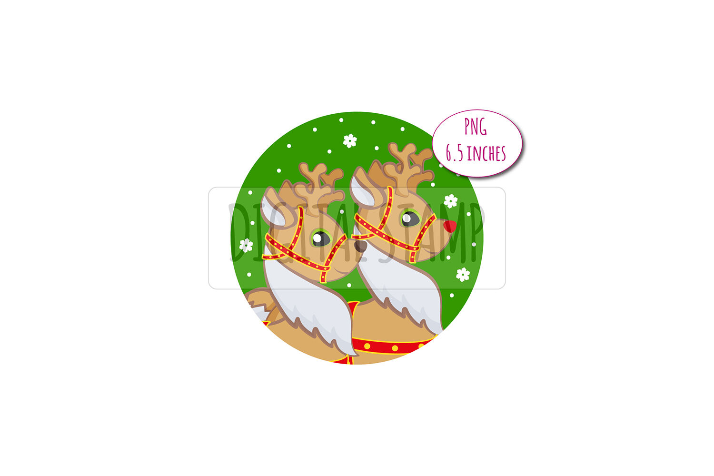 Santa Claus And Deer Xmas Clipart Png By Bunart Thehungryjpeg Com
