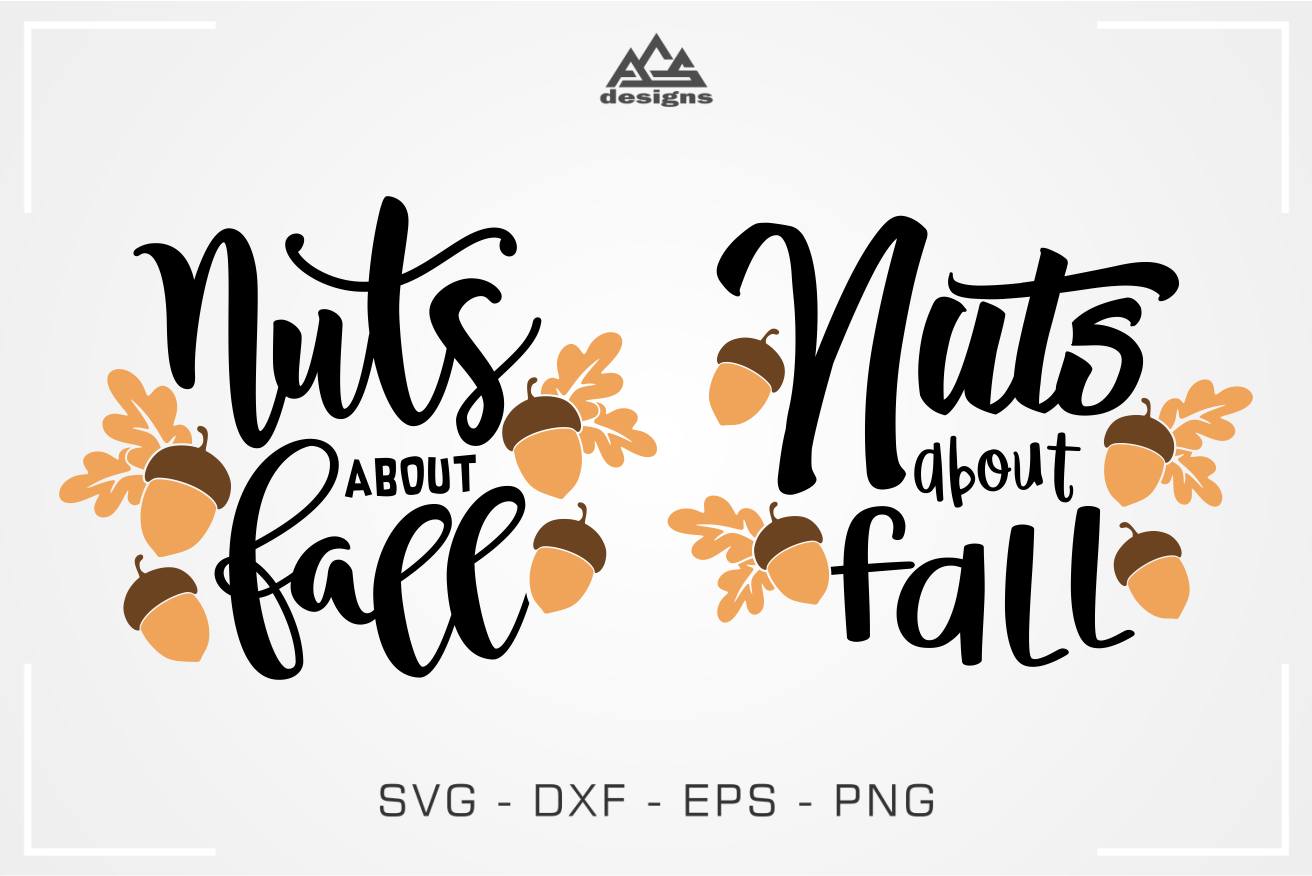 Nuts About Fall Svg Design By Agsdesign Thehungryjpeg Com