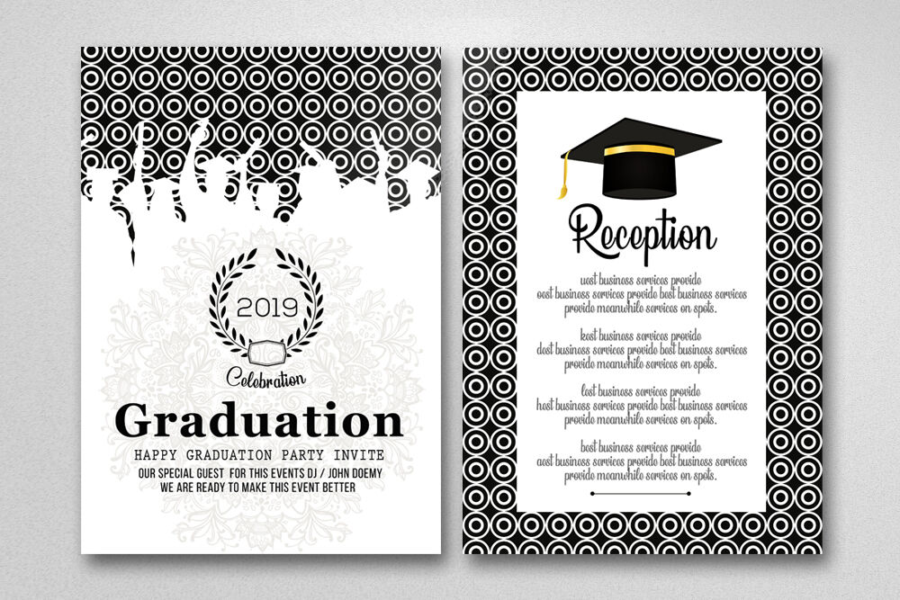 Double Sided Graduation Party Invitation Card By Designhub