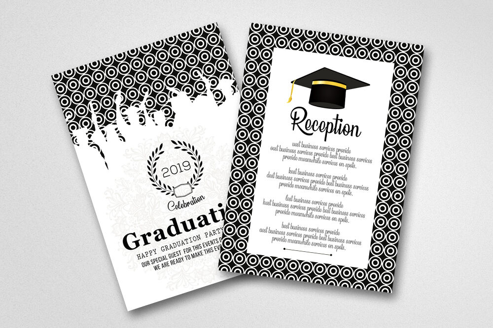 double sided graduation party invitation carddesignhub