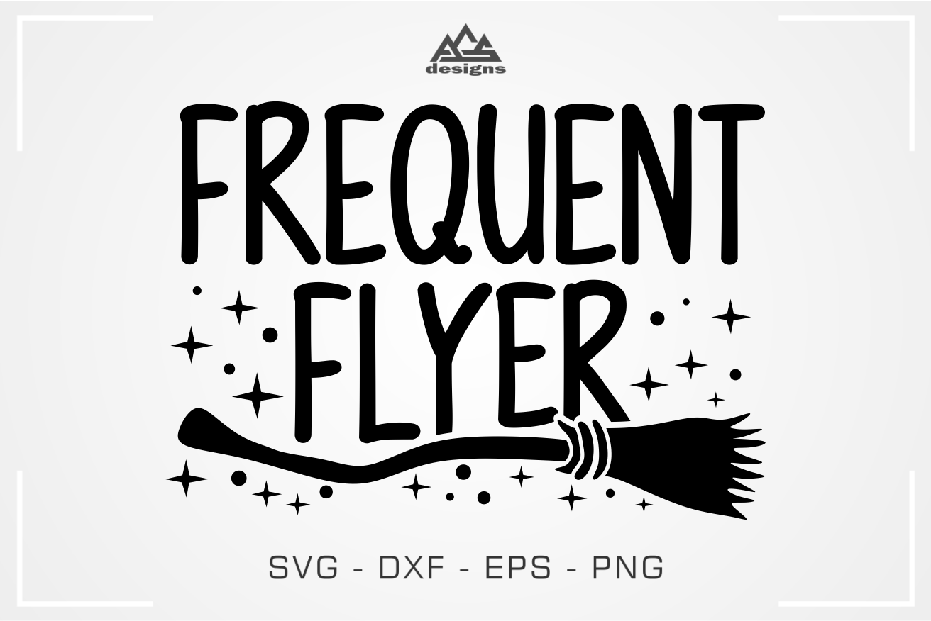 Frequent Flyer Halloween Witch Broom Svg Design By Agsdesign
