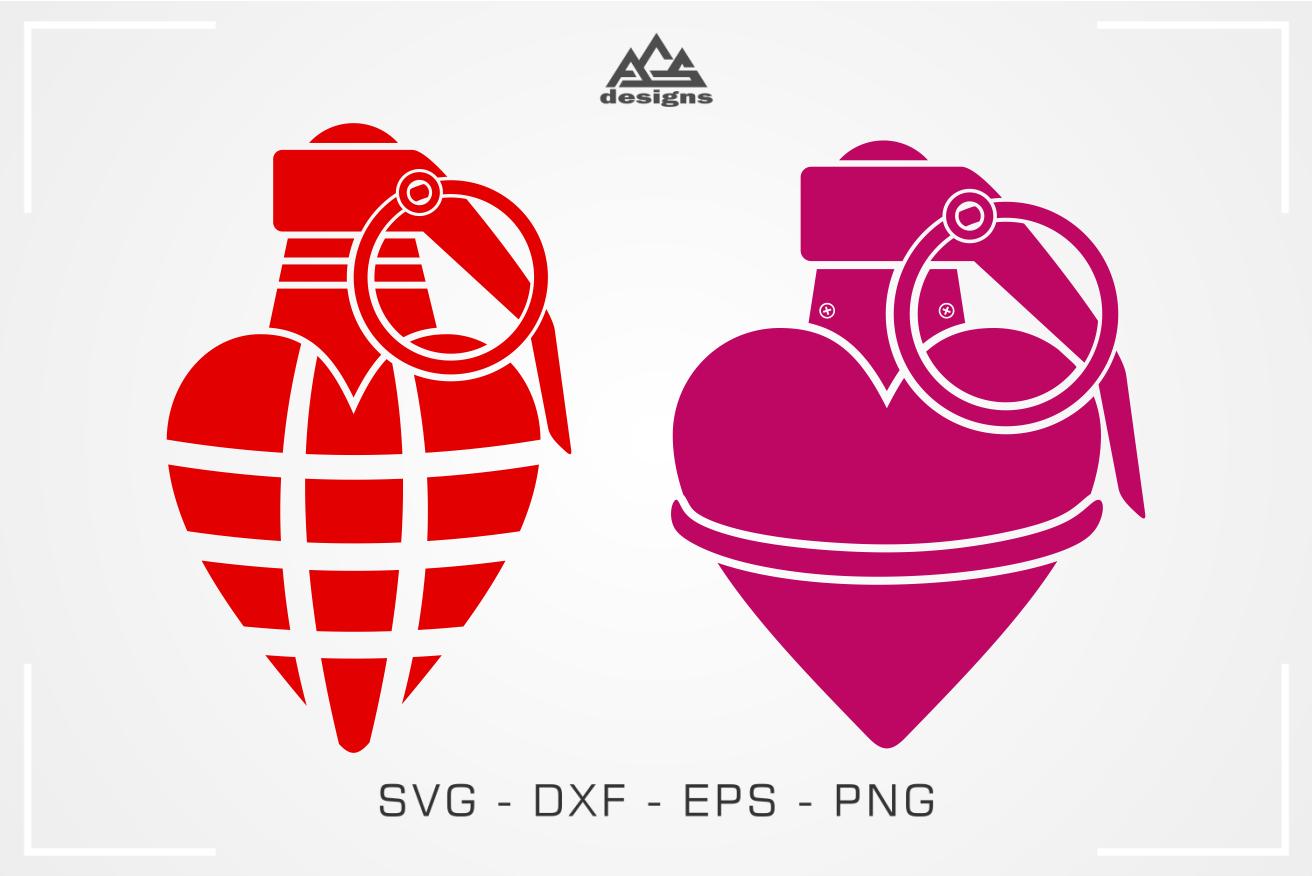 Grenade Heart Love Valentine Svg Design By Agsdesign