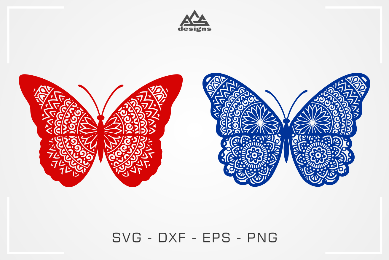 Cute Butterfly Mandala Svg Design By Agsdesign Thehungryjpeg Com