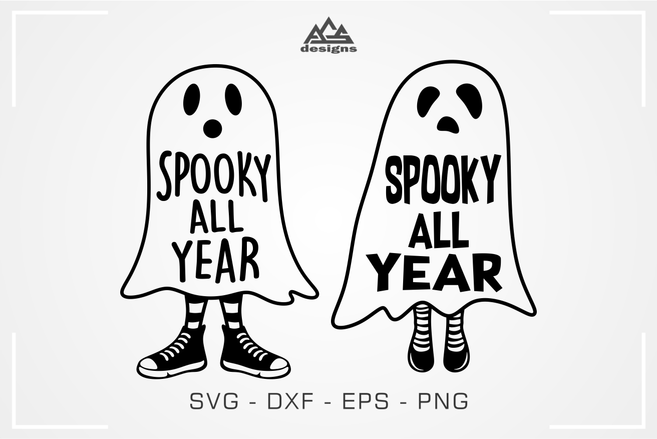 Spooky All Year Halloween Svg Design By Agsdesign Thehungryjpeg Com