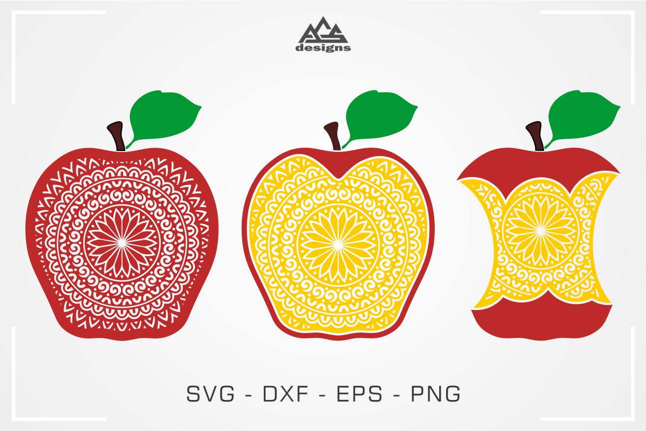 Apple Mandala Svg Design By Agsdesign Thehungryjpeg Com