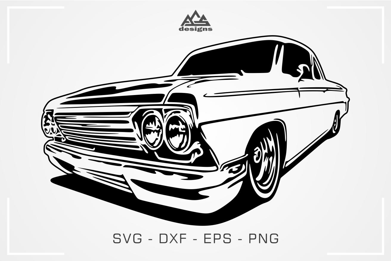 Classic Car Svg Design By Agsdesign Thehungryjpeg Com
