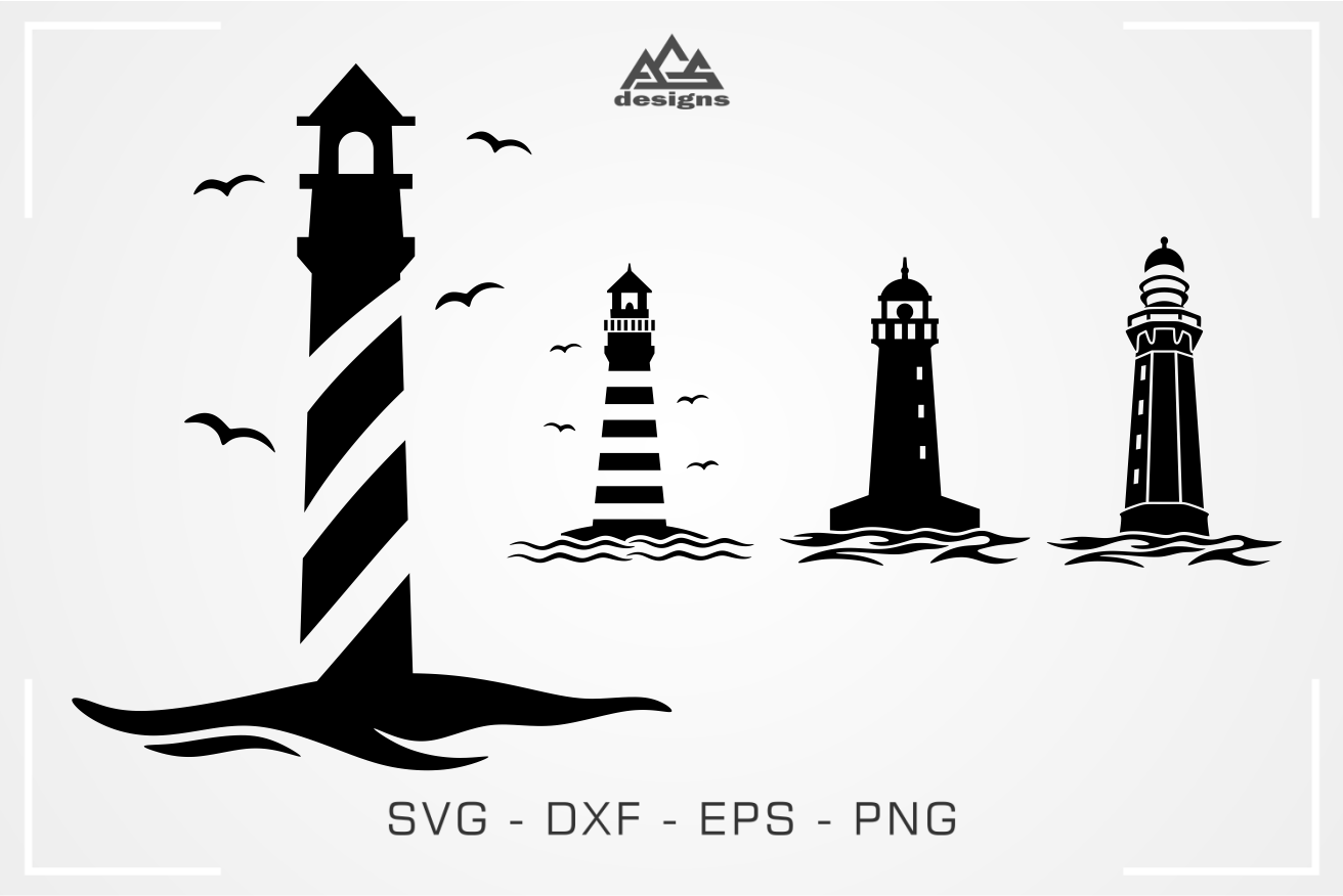 Lighthouse Decal Packs Svg Design By Agsdesign Thehungryjpeg Com